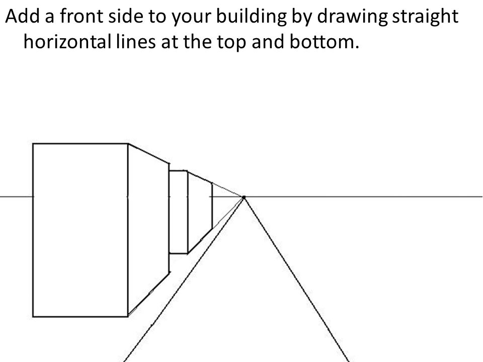 Straight Line Art Tutorial : One point perspective city drawing a tutorial ppt video