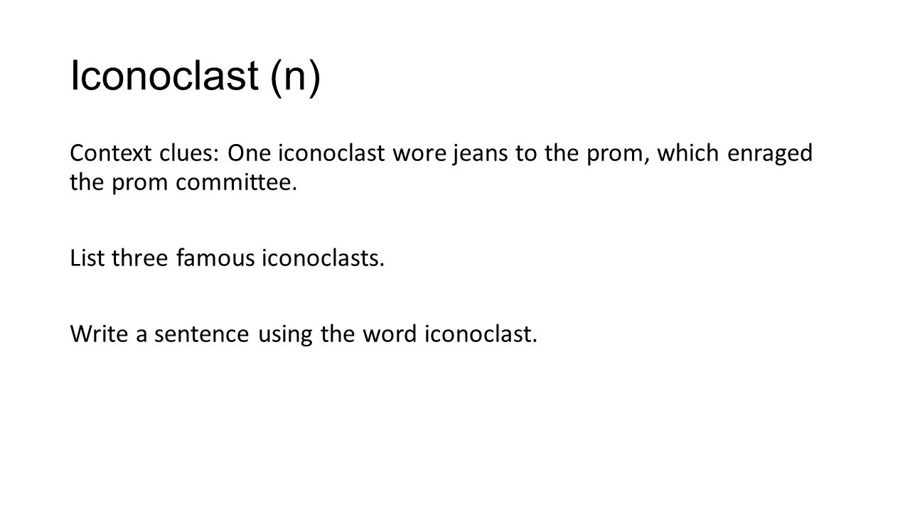Definition of 'iconoclast'