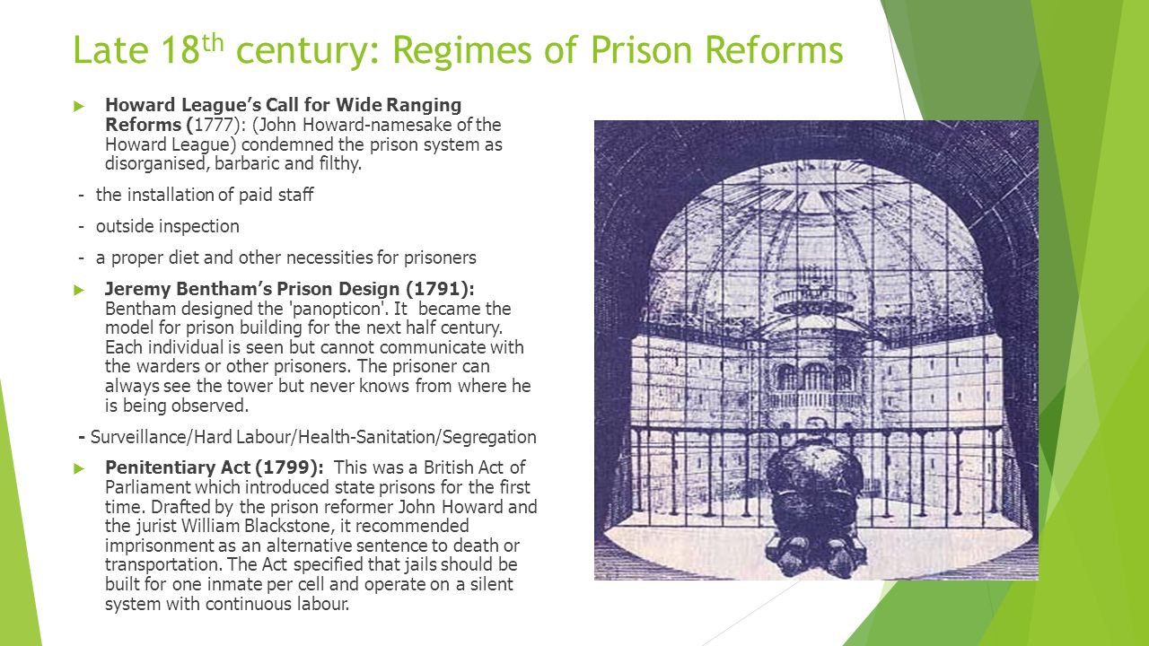 prison reform in the 19th century Start studying cj 120 chapter 1, 2, 3, and 4 learn vocabulary, terms, and more with flashcards d 19th century answer: c age of enlightenment prison reform in early 19th-century america could best be described as a developing b uninspired.