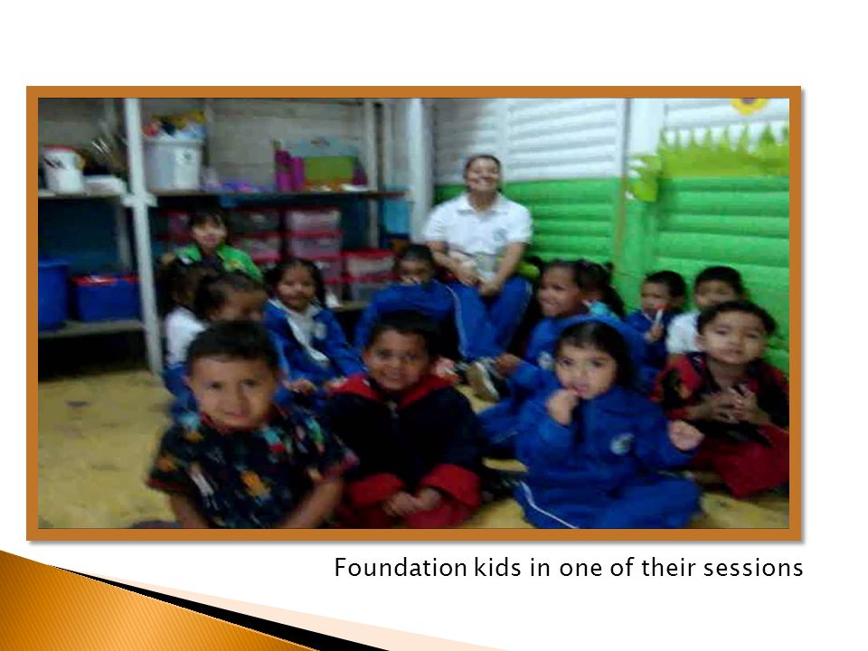 Foundation kids in one of their sessions
