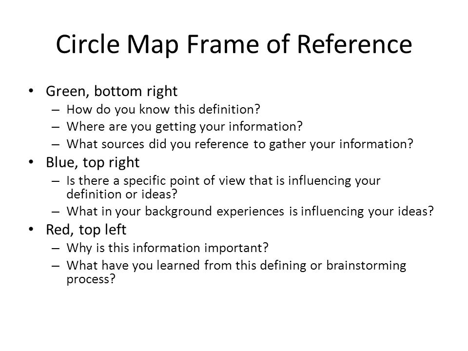 Thinking maps how to and why ppt video online download 9 circle map frame sciox Gallery