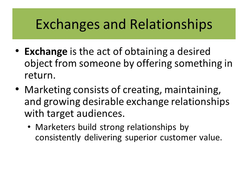 marketing exchange relationship