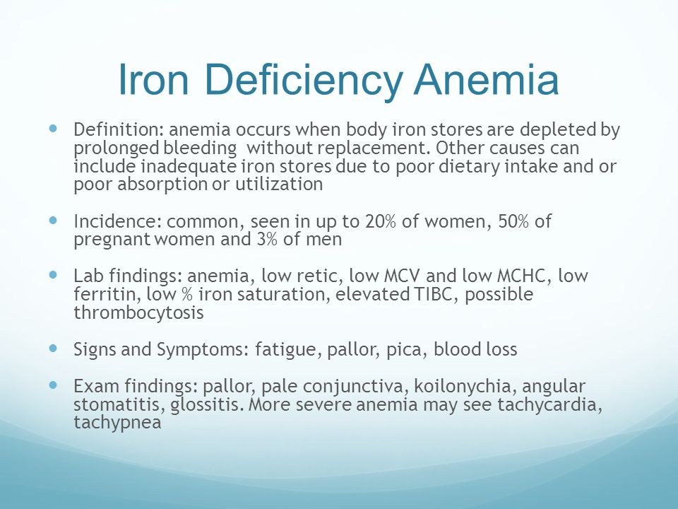 an examination of iron deficiency anemia