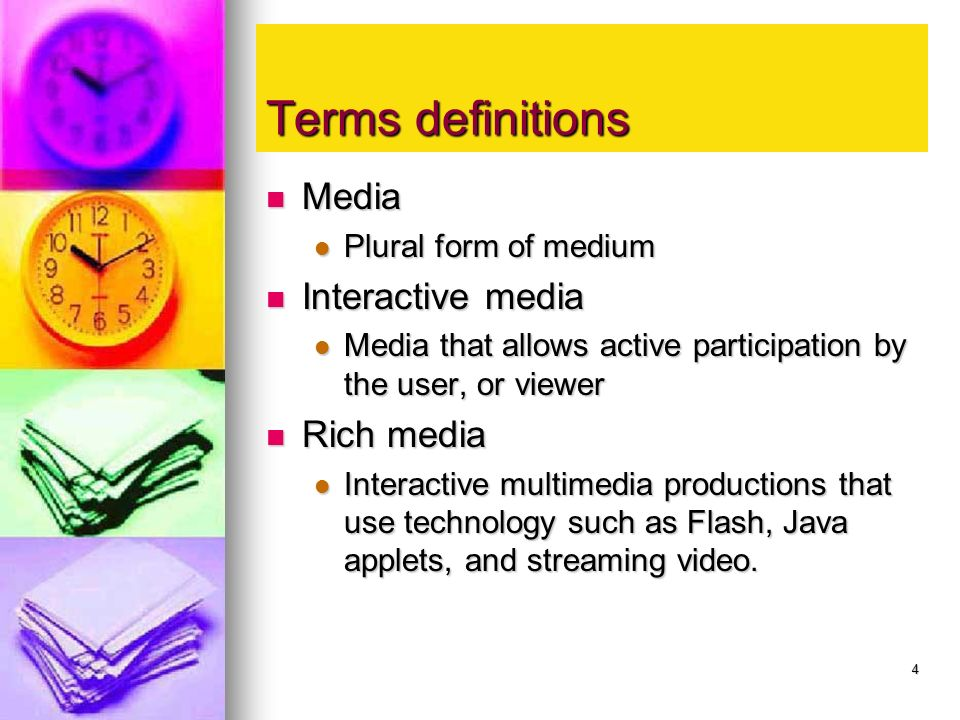 Multimedia Fundamentals - ppt video online download