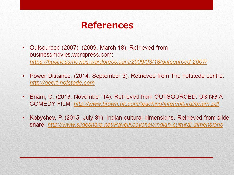 cultural conflict in outsourced film Outsourced services between 2010 and 2014 to around outsourcing and the role of internal audit third party provider ethical/cultural issues.