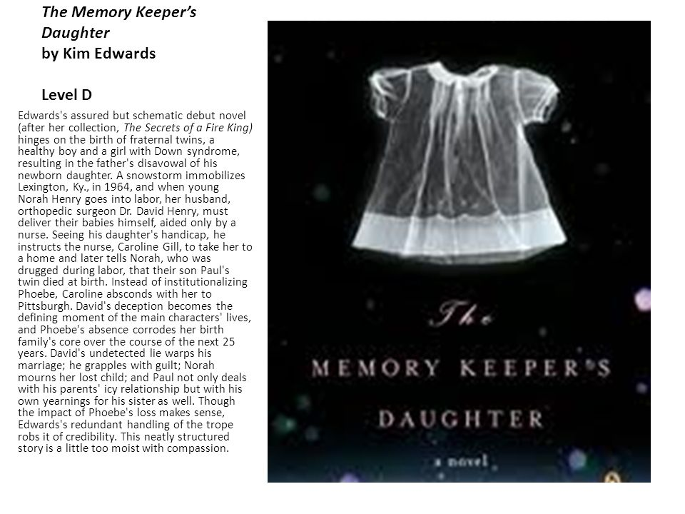 The Memory Keeper S Daughter Quotes: Sleeping Freshman Never Lie. By: David Lubar Level A