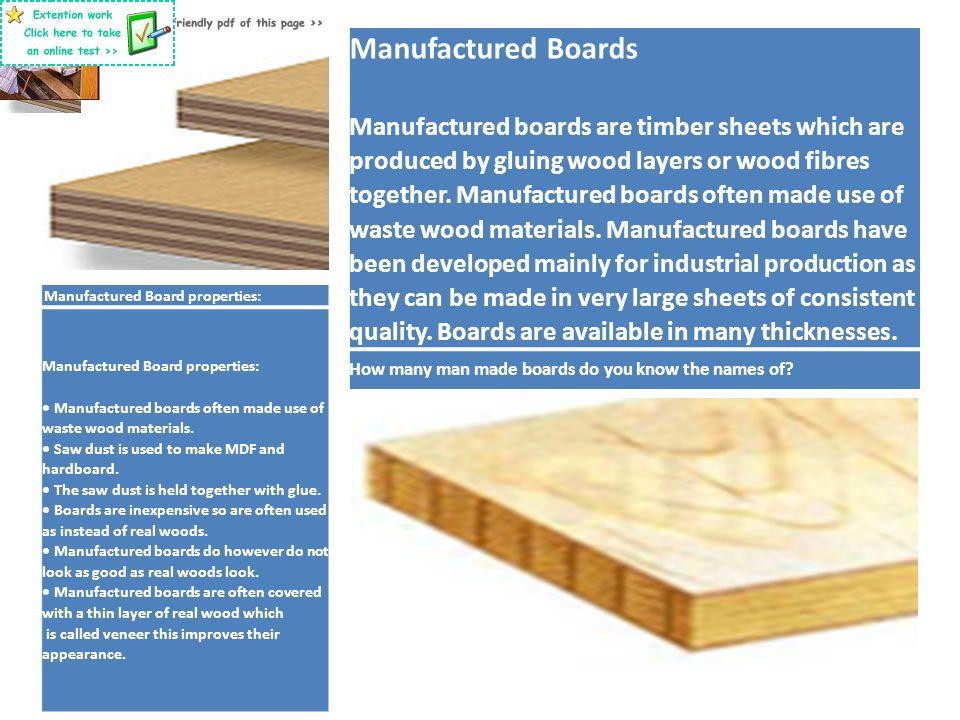 Resistant Materials Revision Materials Woods Plastics And