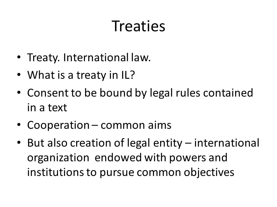 The aims of the international law