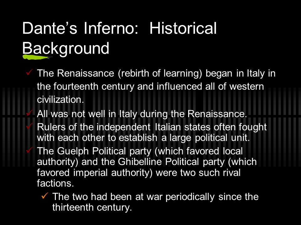"the political context of dantes inferno Zygmunt g barański and patrick boyde, eds, the ""fiore"" in context: dante, france, tuscany (the william and katherine devers series in dante studies, 2."