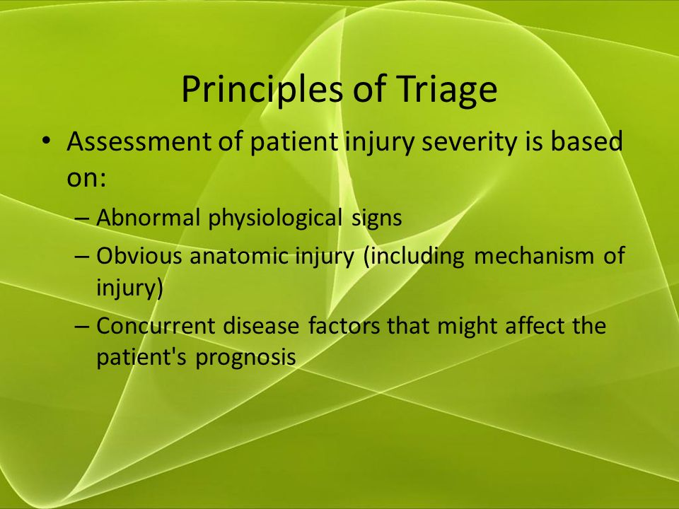 using the triage assessment Using the triage assessment tool format mla academic level: – volume of 3 pages (825 words) assignment type : essay description after reading the case examples in the myer and conte (2006) article, you have a better understanding of how to use one type of assessment tool.