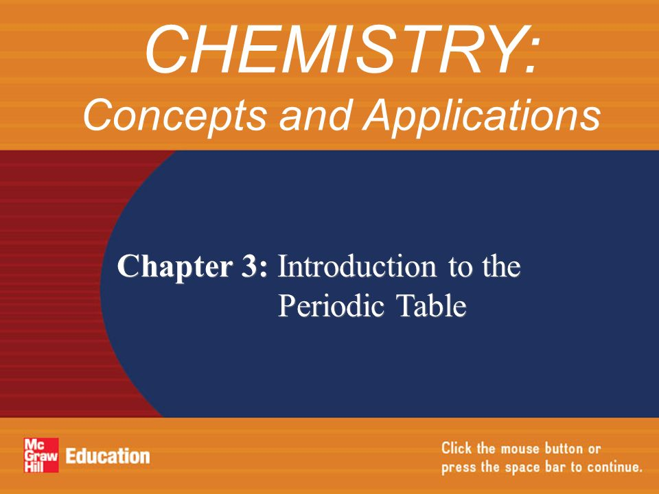 chemistry concepts and applications - Periodic Table Applications