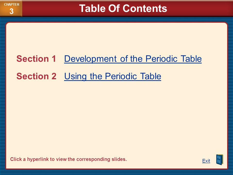 2 table - Periodic Table Applications
