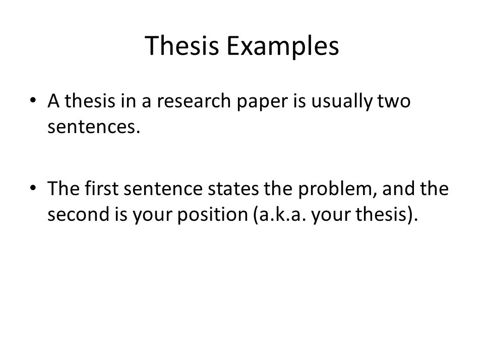 stating your thesis in a research paper