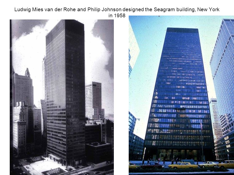 The shell system the skeleton skin system ppt video for Seagram building ppt