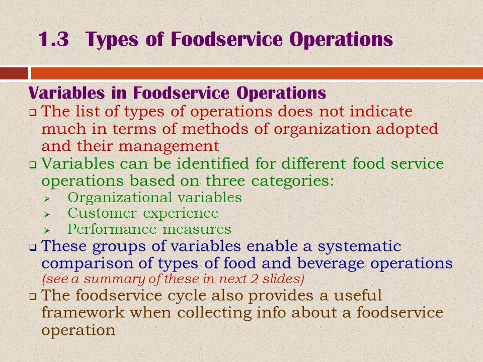 BHM 1203: INTRODUCTION TO FOOD & BEVERAGE SERVICE