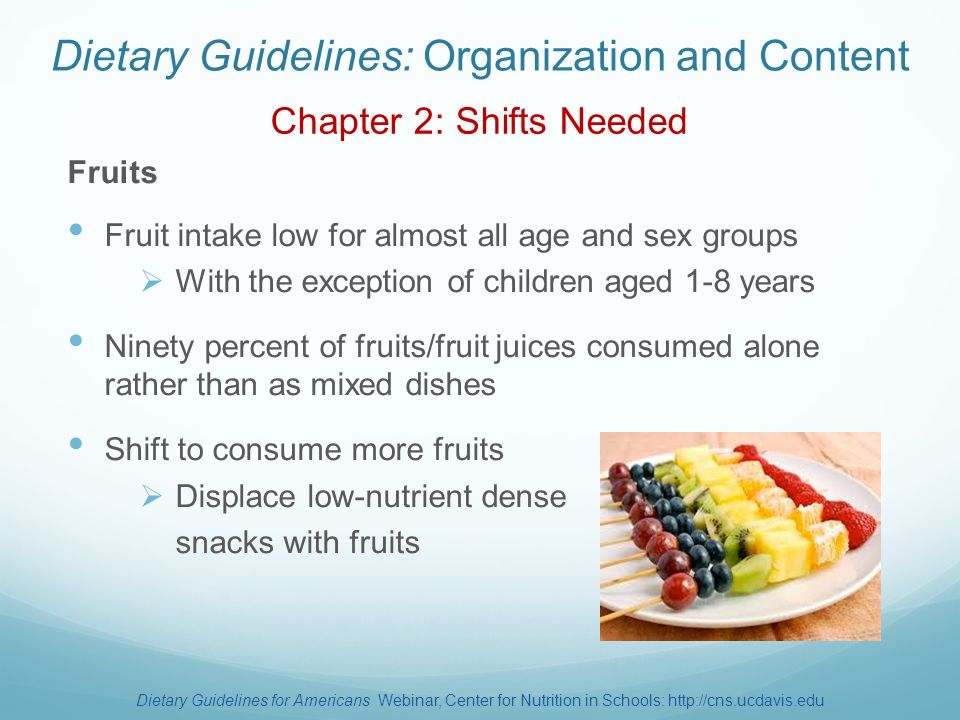 dietary guidelines for age groups