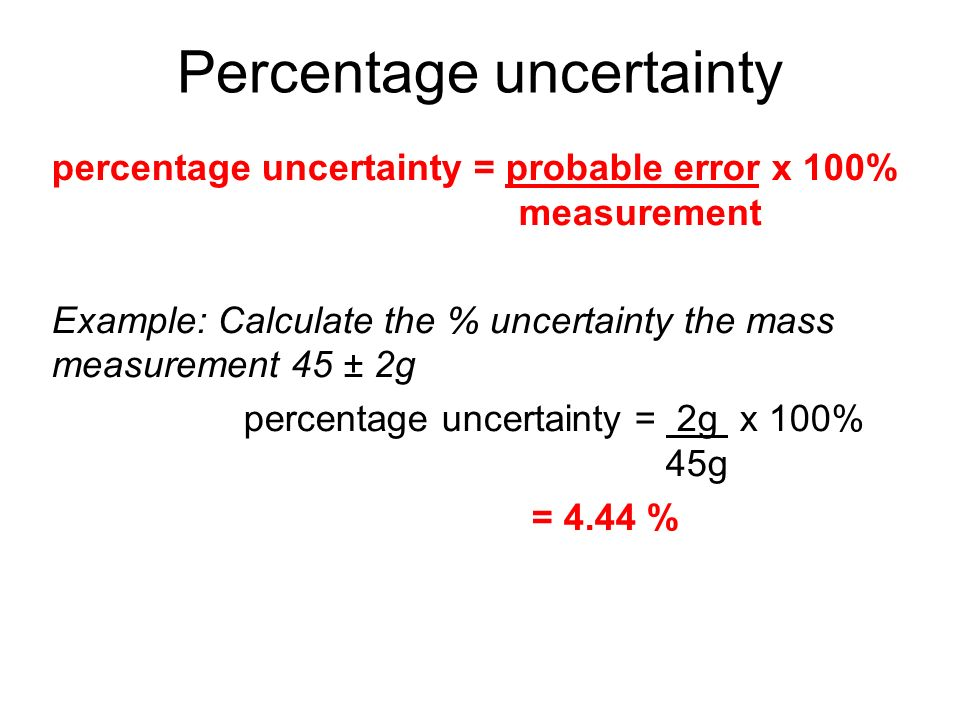 Equation For Percent Error In Physics - Tessshebaylo