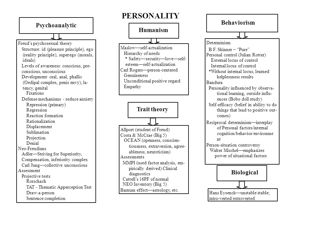 psychoanalytic and trait approaches personality assessment essay As a journal paper soon  211 approaches used in recommender systems    trait approach and the personality tests, followed by the definition of  personal  approach, biological approach, psychoanalytic approach,.
