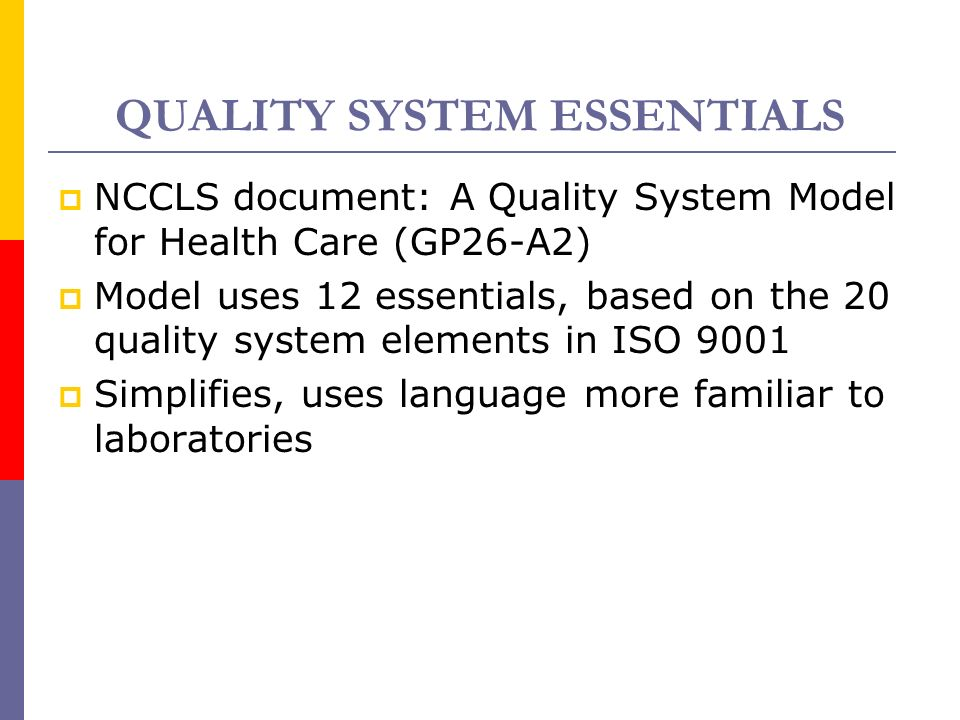 ISO 15189 Quality Standards