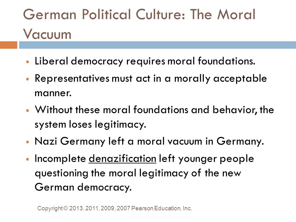 "the political culture of germany Political culture and democratic homeostasis: a critical review of gabriel almond and sidney  in italy and germany ""commitment to the political system is."