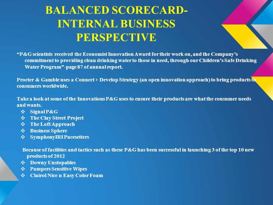 Balanced Scorecard Internal Business Perspective
