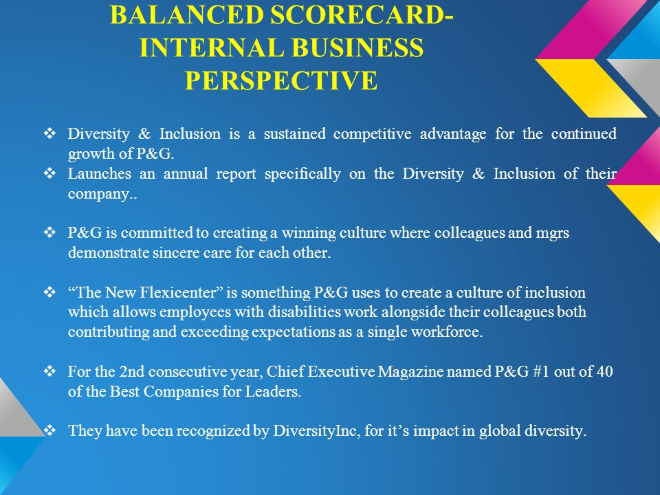 bsc implementation the internal business The balanced scorecard is a strategy performance management tool – a semi- standard  internal business processes: encourages the identification of  measures that answer the question what must we excel at  balanced  scorecards have been implemented by government agencies, military units,  business units and.