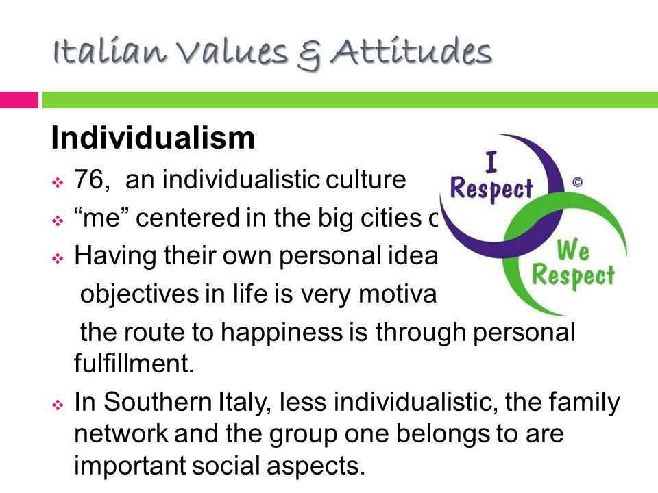 italy lifestyle ideals essay