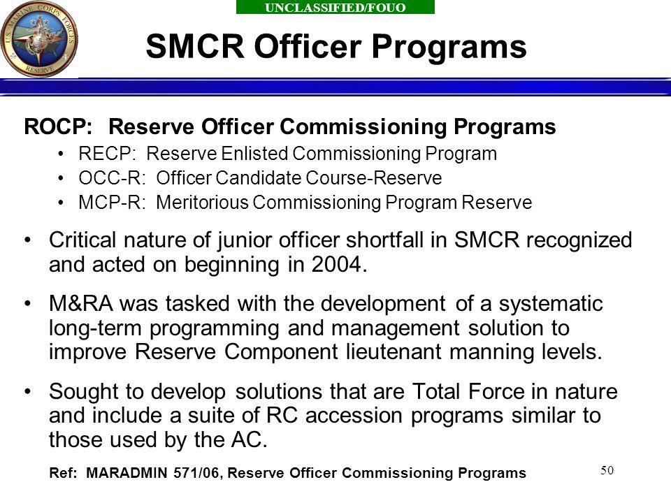 Reserve officer development plan