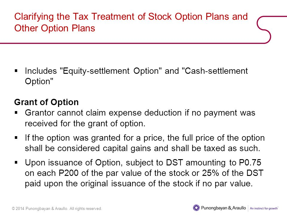 Tax treatment stock options uk