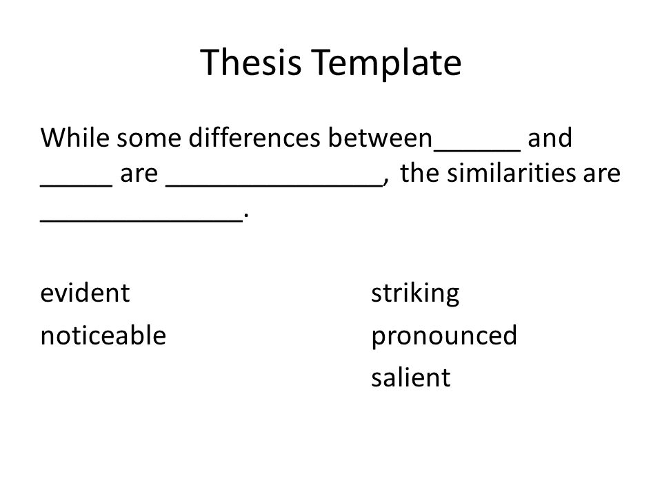 What are the differences between the main idea and a thesis?