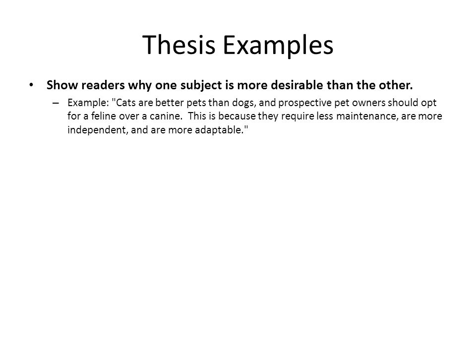 compare and contrast essay ppt 6 thesis