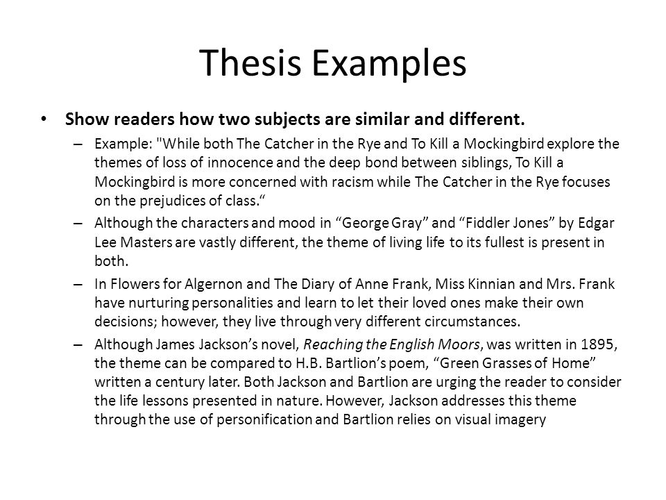 compare and contrast essay ppt video online  8 thesis