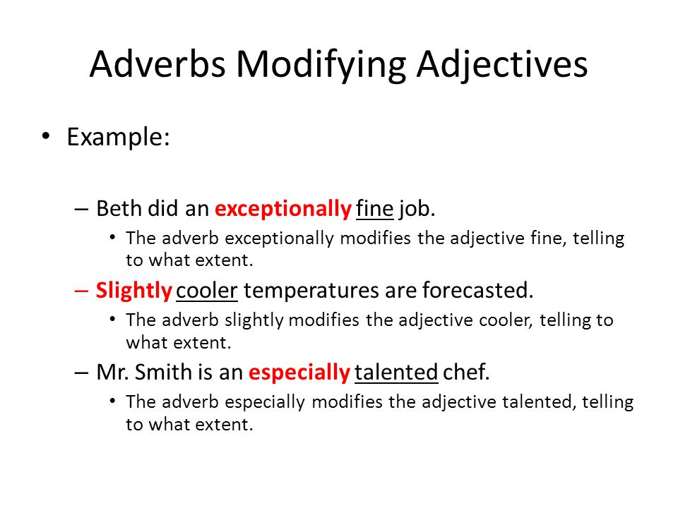 Example Of Adverbs And Adjectives Image Collections Example Cover