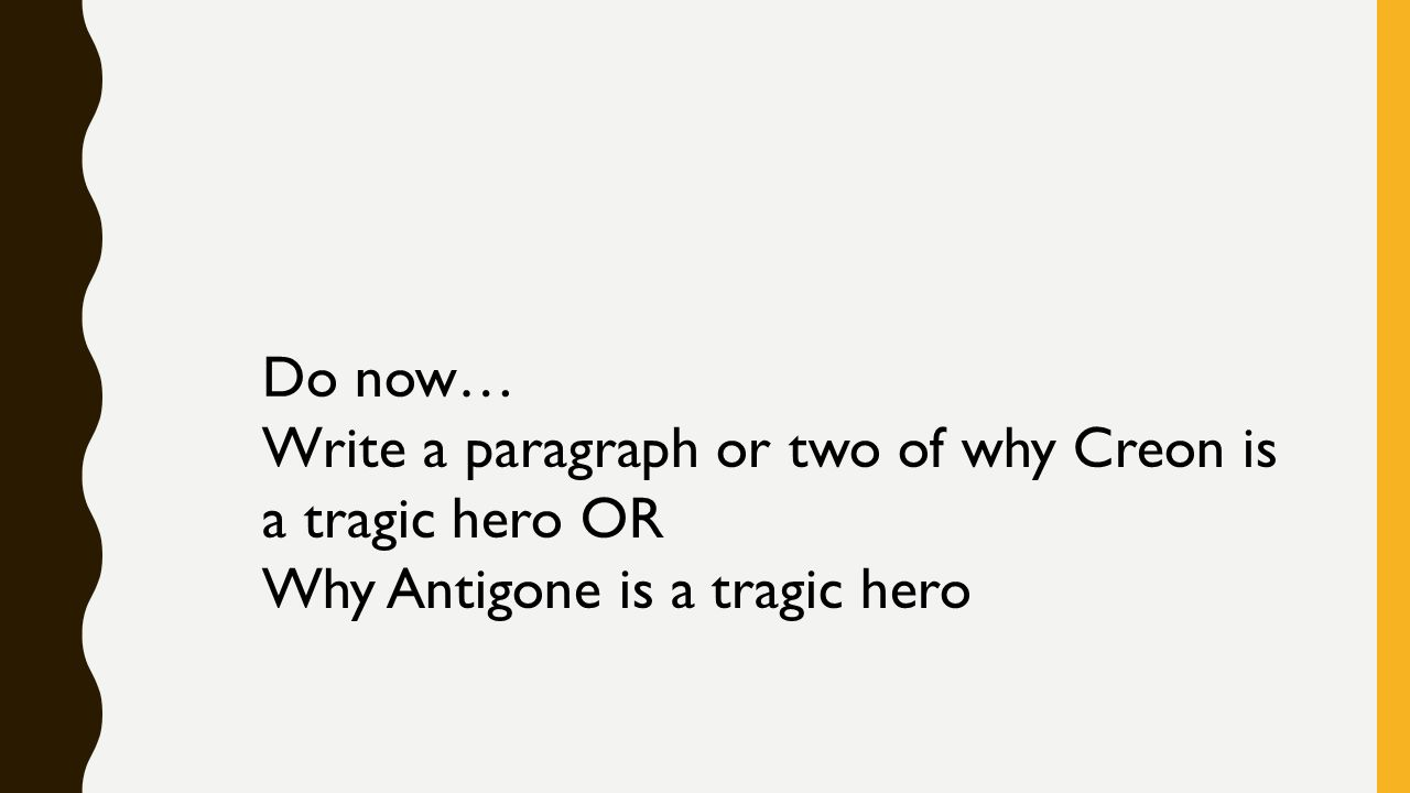 who are some tragic heroes