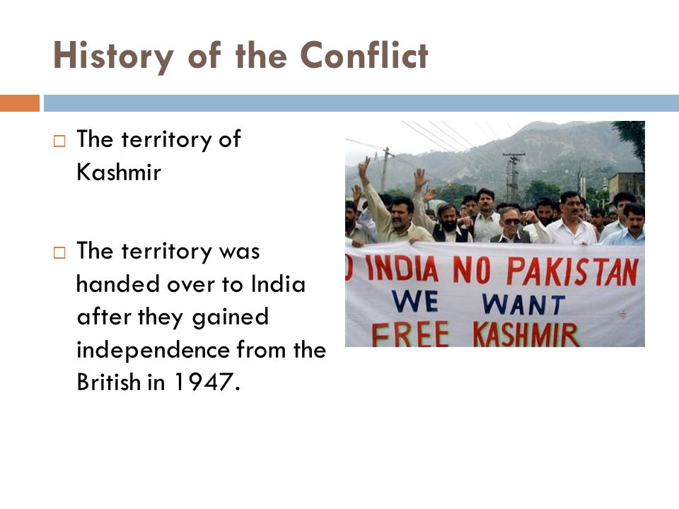 the dispute over the land of kashmir since indias partition in 1947 Indian says that as the maharaja hari singh signed the instrument of accession in october 1947, handing control of the kingdom of jammu and kashmir over to india, the region is theirs.