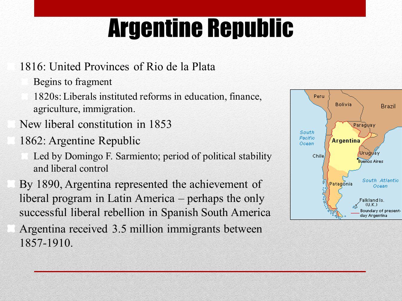 Argentine Republic 1816: United Provinces of Rio de la Plata