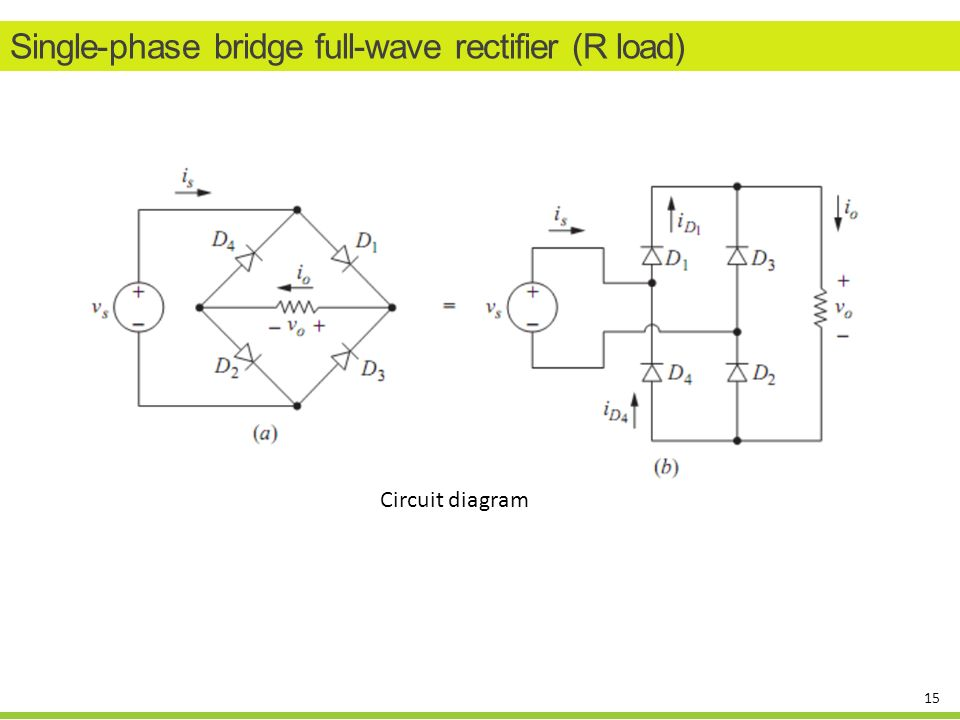 Wiring Diagram Bridge Rectifier : Diode rectifiers uncontrolled ppt video