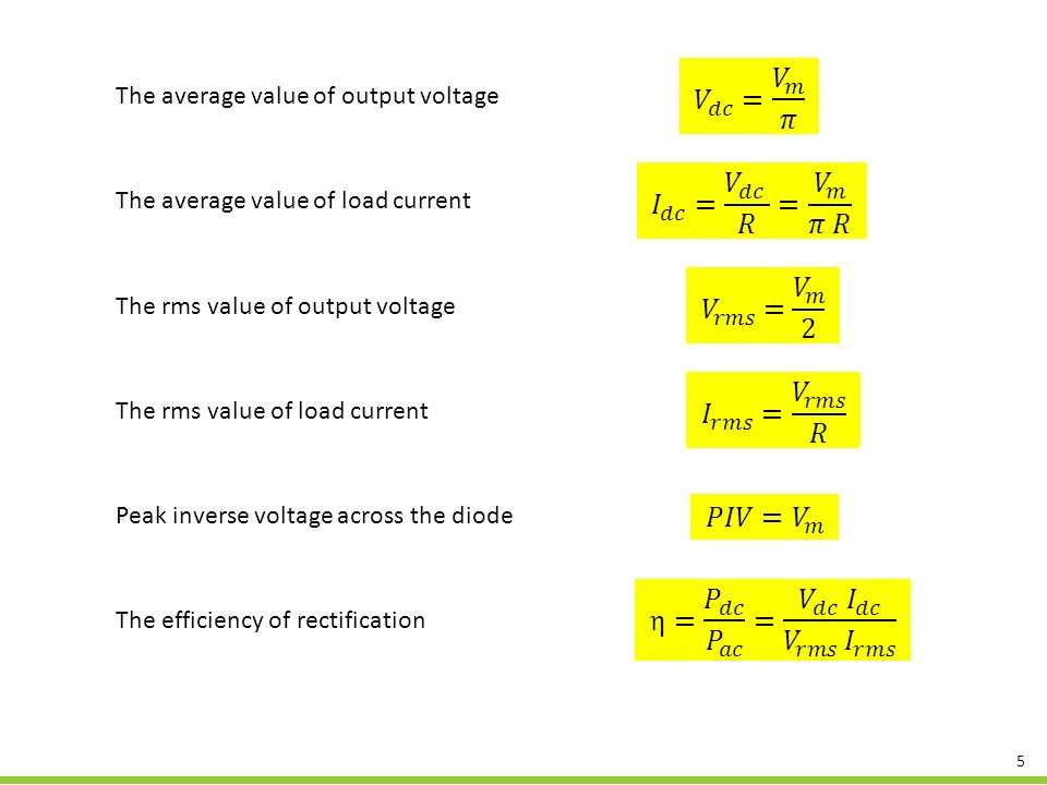 how to find average output dc voltage