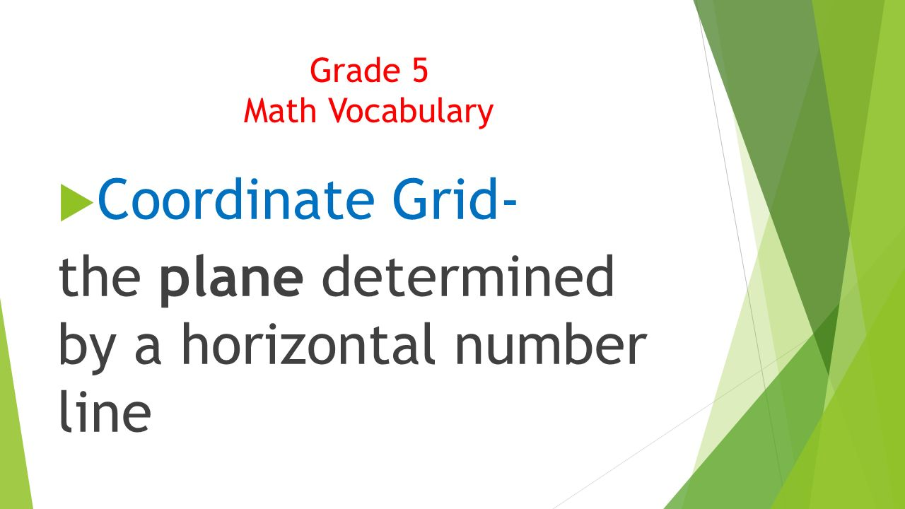 worksheet Horizontal Number Line mathematical vocabulary ppt video online download the plane determined by a horizontal number line