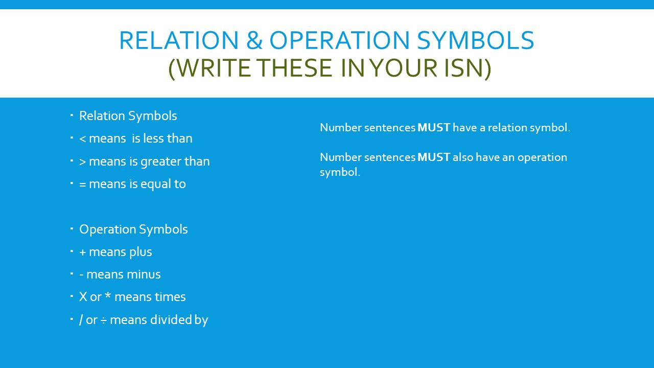 Addition and subtraction number stories ppt video online download 4 relation operation symbols buycottarizona