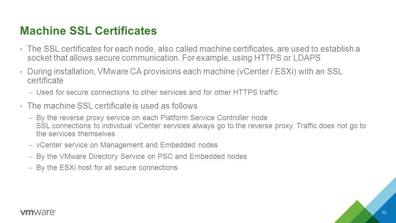Vmware vsphere 60 knowledge transfer kit ppt download machine ssl certificates xflitez Images