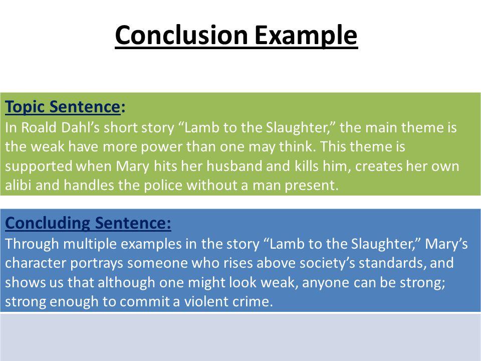 Write concluding sentence essay