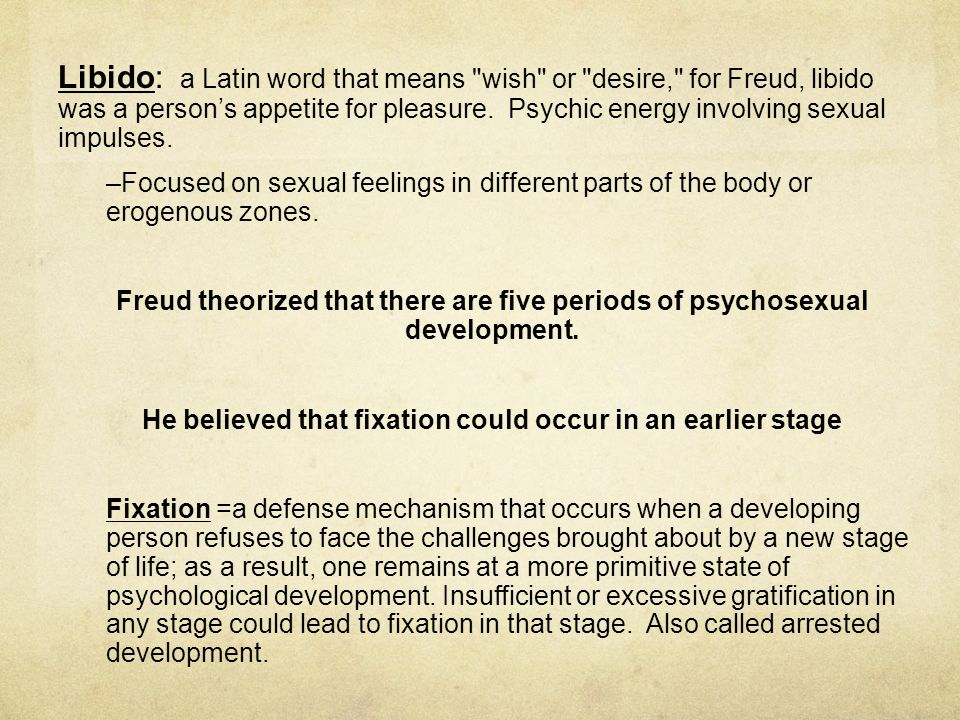 What Psychologist Was Focused On Sexual Fixation