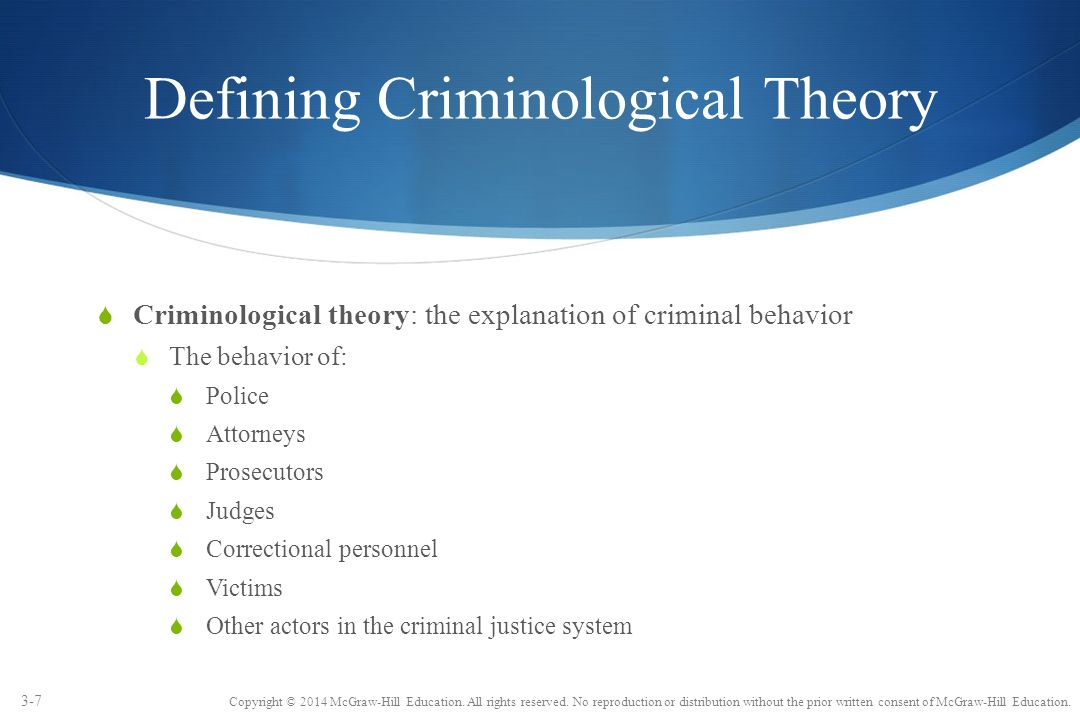 the concept of criminal responsibility vs the free will theory of crime causation Theories of delinquency, by donald  ability of the positive school to elevate the question of causation in regards to crime  according to this theory, criminal.