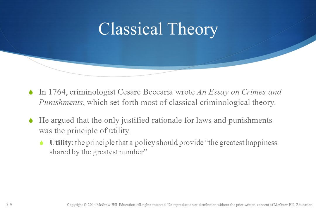 chapter explaining crime ppt  9 classical