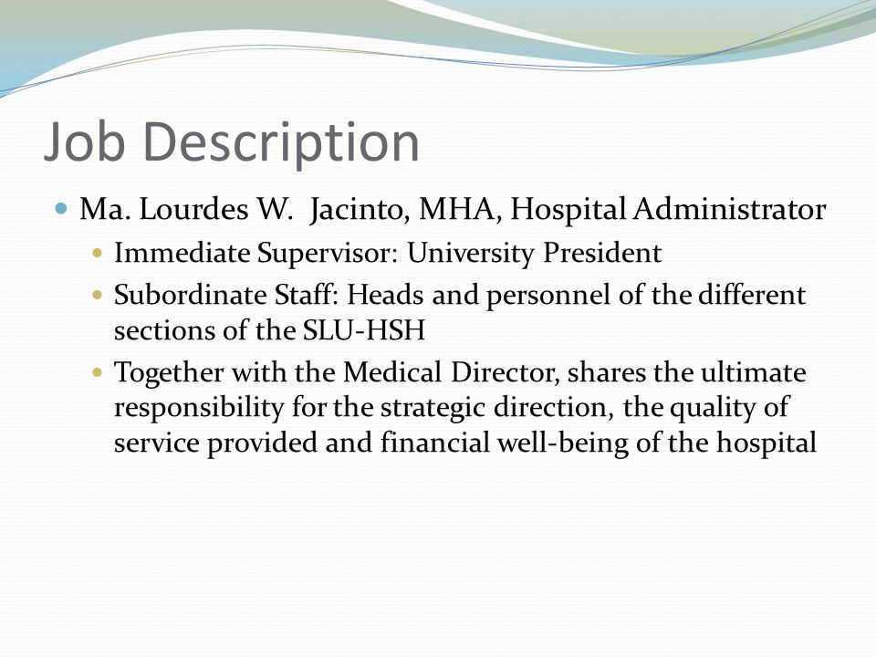 Management St Louis University Hospital Of The Sacred Heart  Ppt