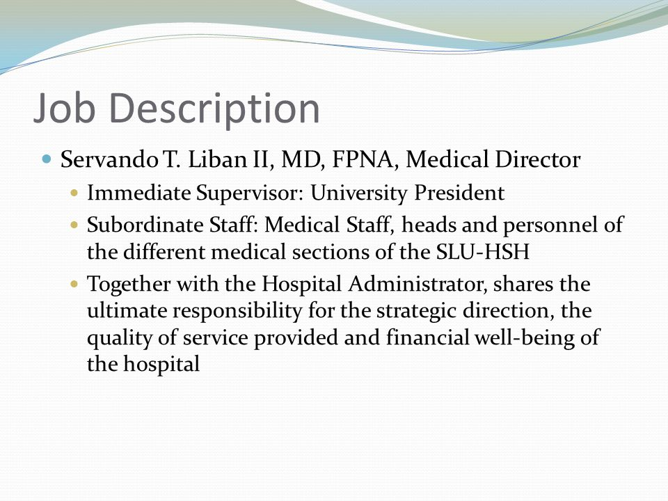 Amazing Medical Director Job Description Pictures - Best Resume