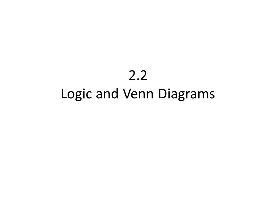 22 Logic And Venn Diagrams Ppt Video Online Download