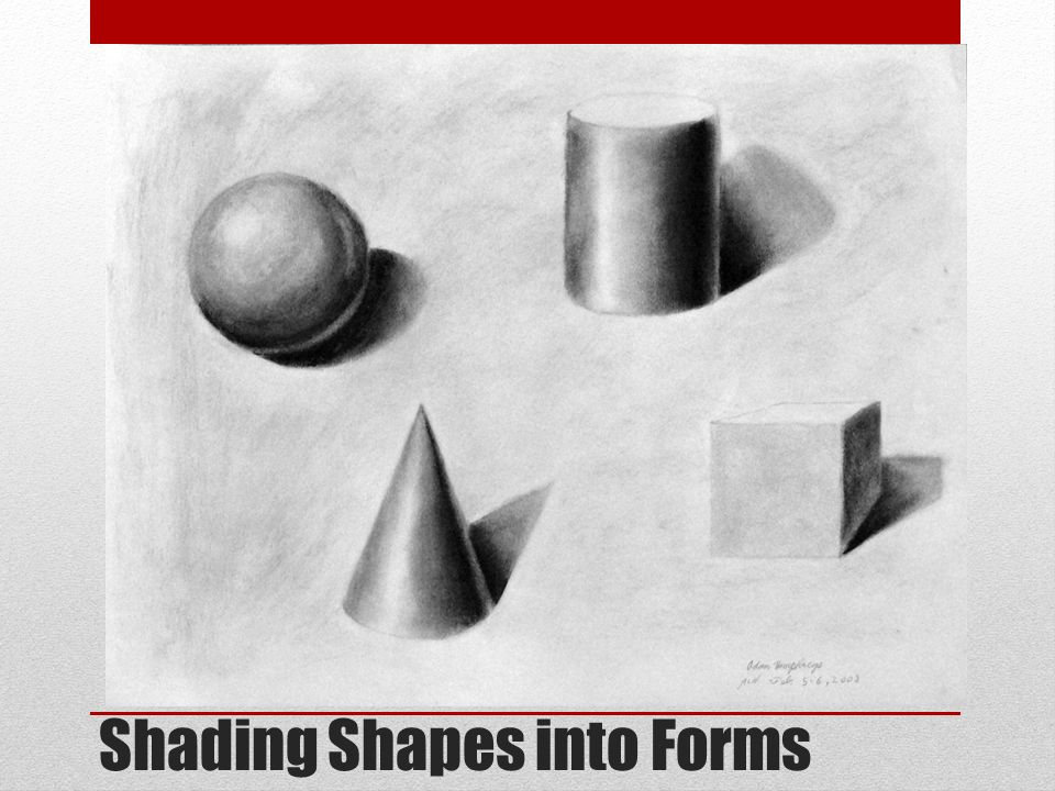 Shading Practice: 3D Shapes - Classie