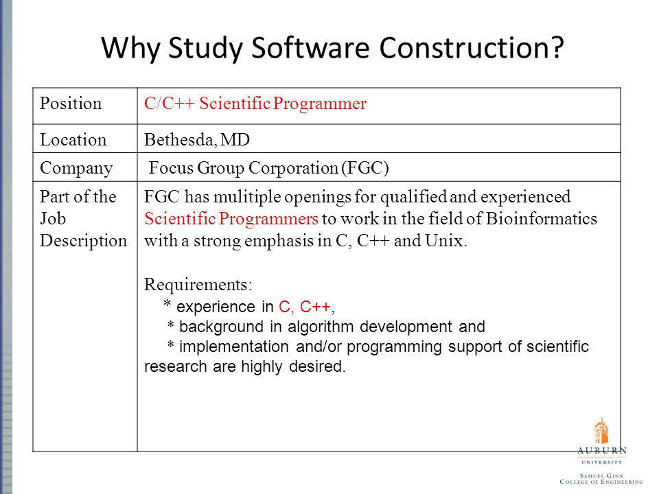 Comp 2710 Software Construction - Ppt Download